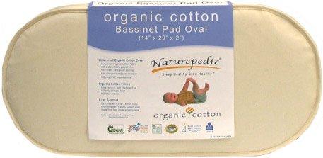 Naturepedic Organic Cotton Bassinet Mattress (Oval - 13