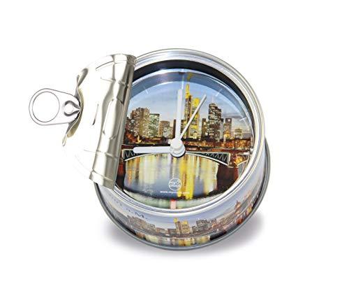 my clock MyClock Reloj de Mesa Magnético, Personalizable, Regalo Original con Foto, Marco de Fotos, DIY - Frankfurt a.M. Skyline