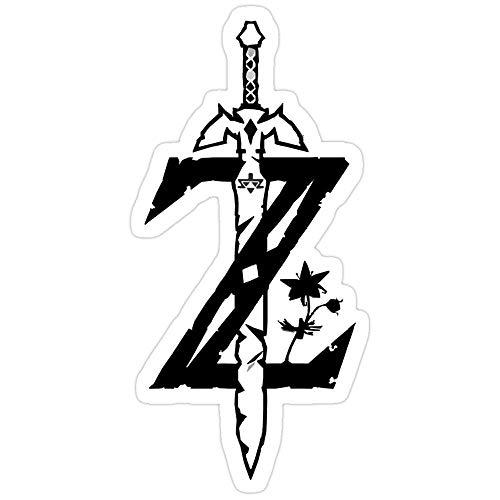 Lplpol The Legend of Zelda Breath of The Wild Aufkleber für Wasserflasche, Computer, Wand, Skateboard, Motorrad, 10,2 cm, 3 Stück