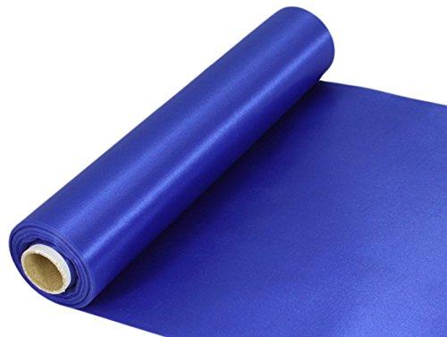 Oaktree UK Eleganza Tessuto Satinato, Blu Reale, 29cm x 20m