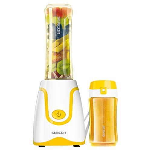 Sencor SBL2206YL 300W Smoothie Blender with 2 Impact Resistant BPA Free Bottles, Yellow Maryland