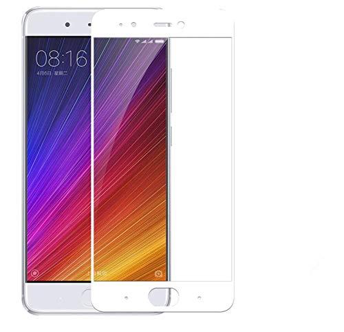 Copmob [2 Piezas Protector de Pantalla para Xiaomi 5s,[Cubierta Completa] [2.5D ARC Edge],Dureza 9H, Super Resistente al Desgaste, Resistente a los arañazos, Protector Pantalla Xiaomi Mi 5s -Blanco