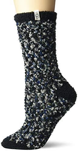 UGG Women's Cozy Chenille Sock, Black/Grey, O/S