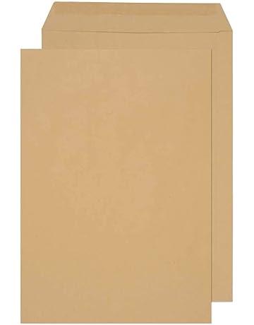 sobres de 110 g//m2 cartas tarjetas de cumplea/ños 16,2 x 22,9 100 piezas Mstr Sobres de papel Kraft invitaciones sobres sobres fundas para tarjetas de felicitaci/ón
