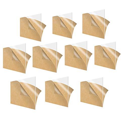 LZYCYF Hoja De Acrílico Transparente Plexiglás Foto Tamaño Hoja Imagen Cuadro Reemplazo-200 * 250 * 1mm(10pcs)
