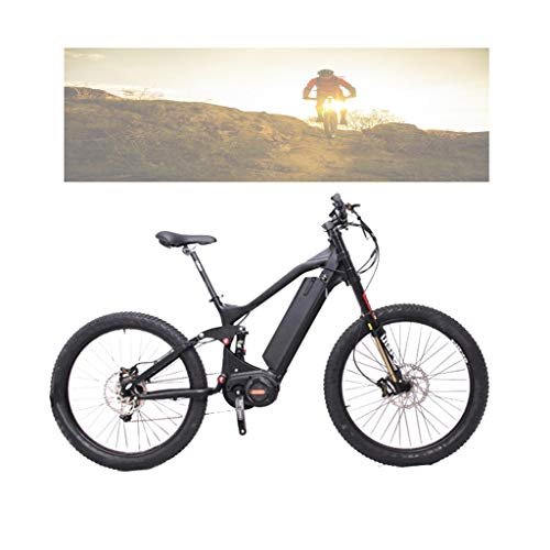 Mountain Electric Bike, Super Power Electric Bicycle, Middle Drive 48V 1000W Full Suspension Mountain E-Bike Fathers Day Gift Black