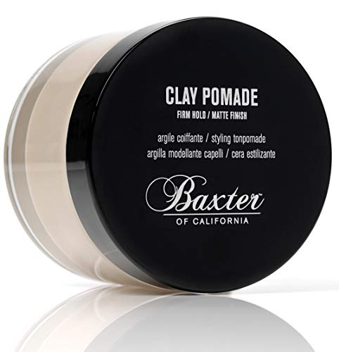 Baxter of California Clay Pomade for Men | Matte Finish | Strong Hold | Hair Pomade | 2 fl. oz.