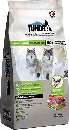 Tundra Trockenfutter Hundefutter Hirsch, Ente & Lachs - getreidefrei (3,18 kg)