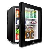 FENGCLOCK Mini Kühlschrank Schwarz | 40L Bier, Wein & Getränke Kühlschrank |...