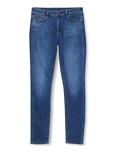 G-STAR RAW Damen Jeans 3301 High Waist Skinny, Blau (Medium Blue Aged 8968-9362), 30W / 34L