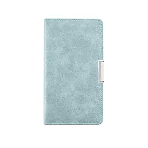 HSJ WDX- Espesar Simple Cuaderno Estudio Exquisito portátil Bloc de Notas de Office Diary grabación (Color : Blue, Size : 10 * 17.9cm)