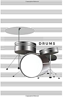 Drums: Blank Sheet Music Notebook 6x9 (15.24 x 22.86 cm)