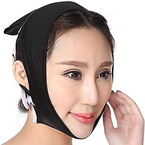 HengYue Massage du Visage Réducteur De Menton Lifting Et Serrage Facial Empêchent Le Bandage Croisé Facial Tombant,S