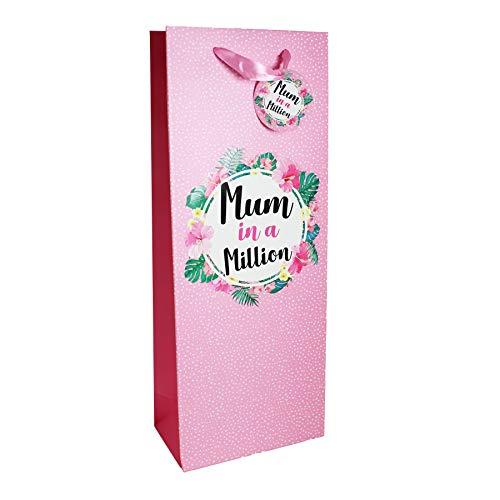 Moeder in een miljoen fles zak prosecco/wijn Moederdag Gift