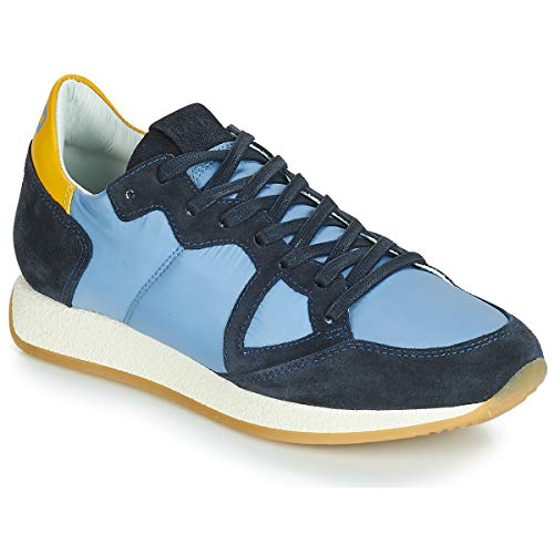 Philippe Model Paris Monaco Vintage Basic Sneakers Donne Blu/Giallo - 36 - Sneakers Basse