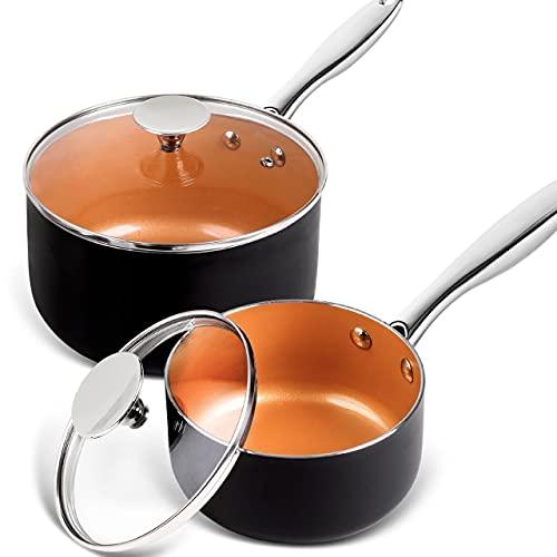 Copper Saucepan Set