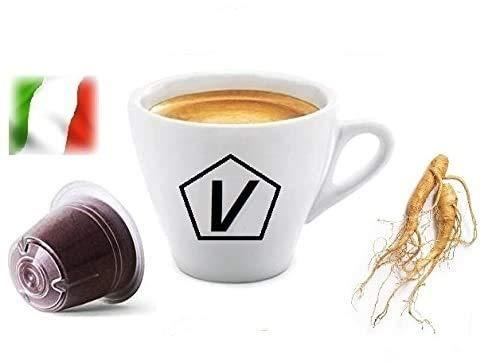 Capsule Compatibili Nespresso, 50 Capsule Caffè Shop Miscela 'Ginseng Amaro Malese' Linea Espresso