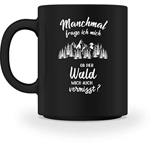shirt-o-magic Forstwirt: Ob der Wald mich vermisst? - Tasse -M-Schwarz