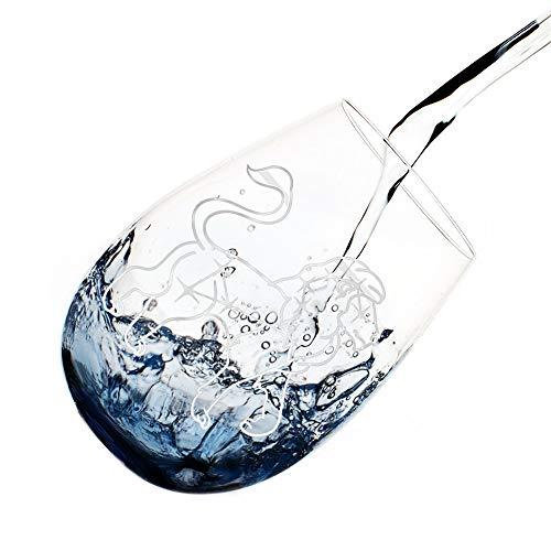 DesBerry Sternbild WasserglasWeinglas ohne Stiel Weingläser RotweinWeinglas Sternbild (Löwe)