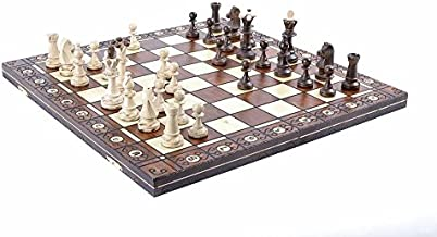 Wegiel Chess Set - Consul Chess Pieces and Board - European Wooden Handmade Game - JUNIOR
