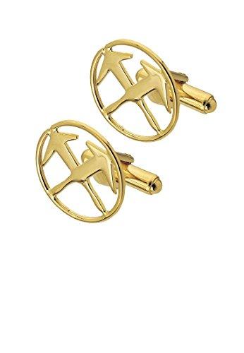 Eiko Manschettenknöpfe mit Zunftzeichen, vergoldet (Dachdecker)