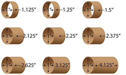 Label Cores 1' Inner Diameter. Rigid Cardboard. Variety of Widths Available. (1' Inner Diameter X 4.125' Width)