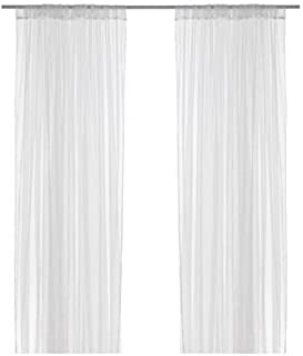 comprar comparacion IKEA LILL - Sheer curtains, 1 pair, white - 280x300 cm