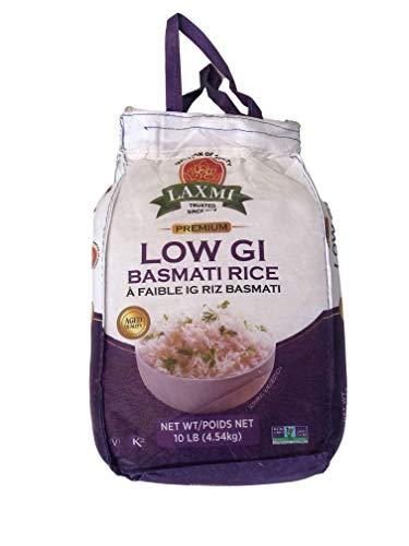 Laxmi Diabetic Friendly Basmati Rice w/ Lower G.I. Index Value - 10lb