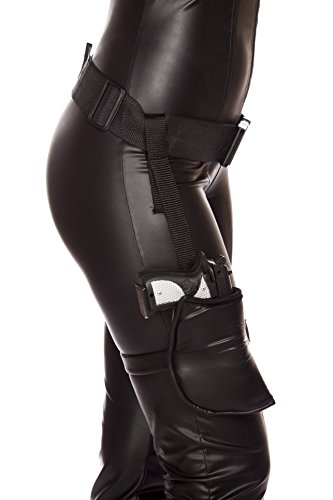 Roma Costume Women's Leg Holster with Connected Belt, Black, One Size