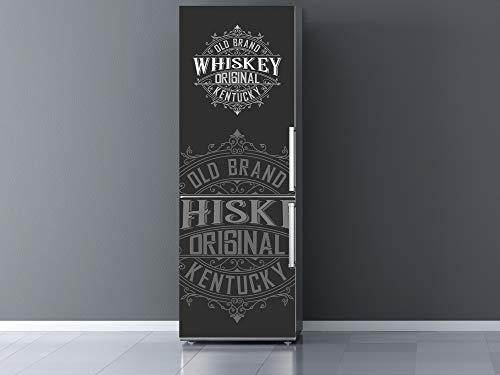 Vinilo para Frigorífico Old Brand Whiskey 70x185cm | Adhesivo Resistente y Económico | Pegatina Adhesiva Decorativa de Diseño Elegante