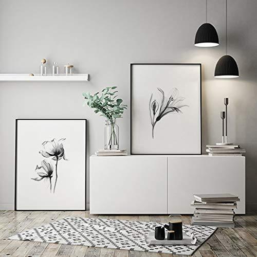 MILUKA Pack 2 Láminas para Enmarcar para Cuadro de Estilo Elegante | Póster de Plantas Estilo Acuarela | Magnolia Y Lily | Tamaño 50x70cm