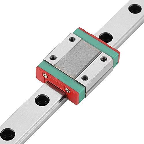 Guida lineare, guida lineare in miniatura, larghezza 12 mm + 2 blocchi di scorrimento MGN12B per aggiornamenti di stampanti 3D Ender 3, Corexy, Tronxy, Delta Kossel e macchine CNC