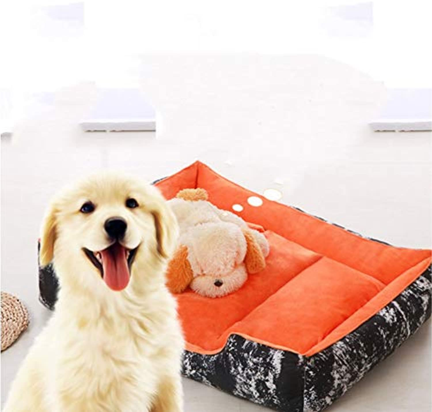 GZDXHN Kennel Fully Removable Pet Mats Pet Bed Small Medium And Large Four Seasons Universal Waterproof Is Not Afraid To Bite Pet Mat 0