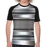 Aerokarbon T-Shirt à Manches Courtes pour Homme,Impression sur Le thème de la Technologie de l'industrie Lourde,Cool Novelty pour Hommes T-Shirts Graphiques M