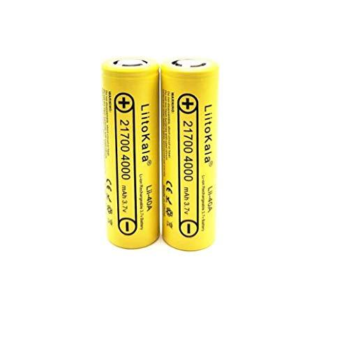 Baterías Recargables Lii-40A 2-1-7-0-0 4000Mah Li-Ni Batería 3.7V 40A para Descarga 3.7V 15A-8Pcs Baterías De Luces Solares para Linterna Radio Batería para Linterna