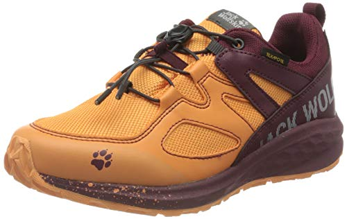 Jack Wolfskin Unisex Kinder Unleash 2 Speed Texapore Low K Walking-Schuh, apricot/Burgundy, 32 EU