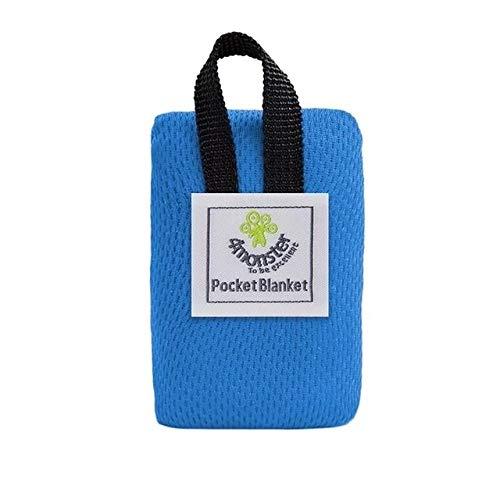 JSANSUI Zeltmatte Tragbare ultradünne Folding Isomatte Tasche wasserdichte Decke im Freien Picknick-Matte Sand-Strand-Matte (Größe: 70 * 110cm) (Color : Blue)