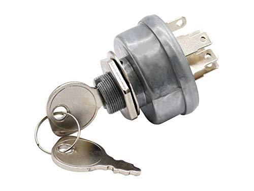SECURA Zündschloss kompatibel mit Bauhaus Funrunner 134K679F646 Rasentraktor