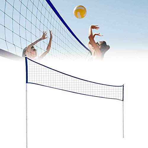 Metre Badminton Volleyball Net for Backyard Portable Volleyball Net Adjustable Foldable with Stand Pole for Beach Grass Park Venues