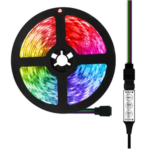 Wandskllss Tira de control remoto LED 3M LED retroiluminación Tv es adecuado para TV Cocina Bar Control remoto Tira de luz RGB Tira de luz LED LED Smart Light StripColor17 teclas 2 m