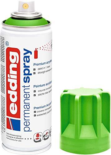 edding 5200-927 - Spray de pintura acrílica de 200 ml, secado rápido sin burbujas, color verde limón mate RAL 6018