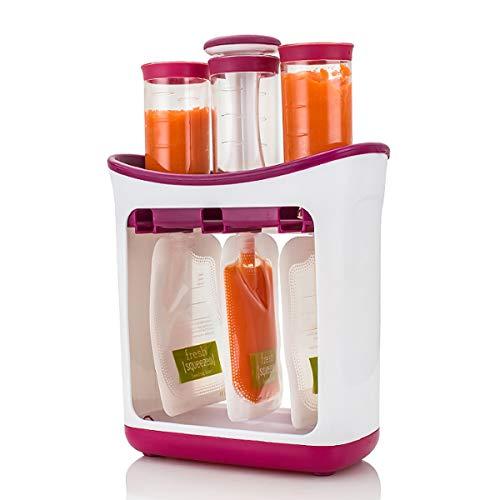 Estación de exprimido Hecho en casa Infantil Bebé Jugo de fruta fresca Fabricante de alimentos con bolsas de almacenamiento 8.26'x8.66' x3.54'