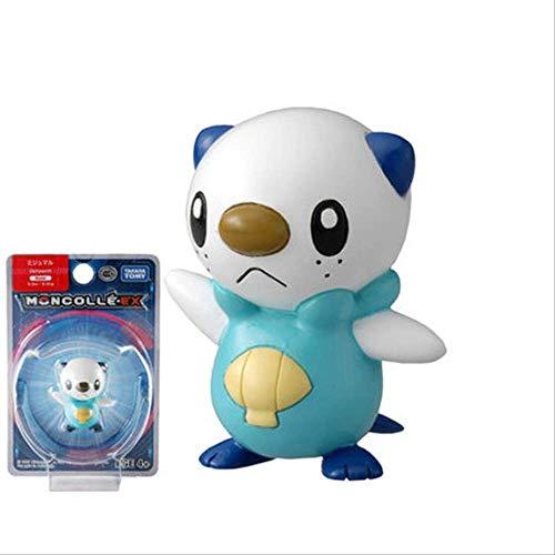 hhjxydst Modelo De Anime - 4cm Genuino Pokemon Charmander Squirtle Mimikyu Raichu Norlax Collection Toy 10 Oshawott