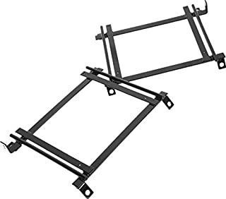 ECOTRIC Racing Bucket Seat Base Mounting Adapter Brackets Rails Tracks 92-00 Civic Pair