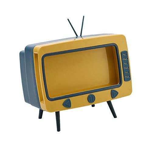 OBOYGANGNQE F # TV Tissue Box 2 en 1 Caja de Bombeo de Escritorio Multicolor para el hogar Sala de Estar Plstico TV Tissue Box Multifuncional Mobile-Blue, China