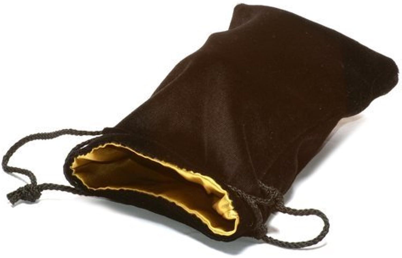 Black Velvet Dice Bag w  gold Satin Lining (Large) by Koplow Games