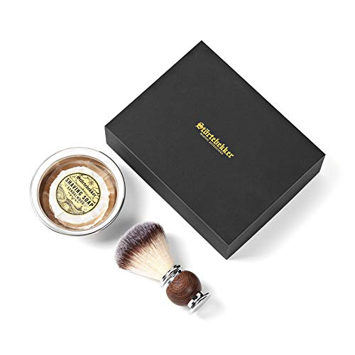 Störtebekker® Premium Rasierpinsel Set mit Rasierschale aus Edelstahl & Sandelholz Rasierseife [inkl. Rasur- und Bartguide E-Book] Perfekte Ergänzung zu Rasiermesser & Rasierhobel - Super Geschenkidee