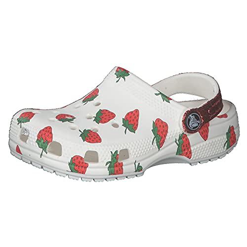 Crocs Kinder Sandale Food Print Clog 207150 White 30-31