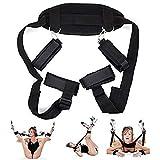 Bed Bóńdágê Rêštráints Kit for Women for Sê&x Couples Uńdêr Bêd Play Straps System Set with Soft Adjustable Wrist Cuffs Adult Play