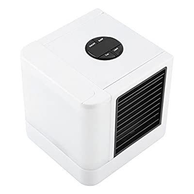 USB Portable Air Cooler Air Conditioner Desktop Cooling Fan Humidifier Purifier with LED Night Light & Adjustable 3 speeds for Office Home Outdoor Travel